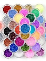 Недорогие -45 цветов теней для век макияж ногтей пигмент блеск пыли порошок набор
