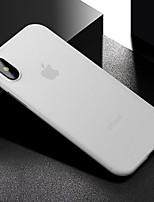 Недорогие -Кейс для Назначение Apple iPhone XS / iPhone XR / iPhone XS Max Защита от удара Кейс на заднюю панель Однотонный Твердый PVC