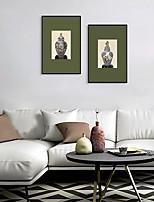 Недорогие -Отпечаток в раме Набор в раме - Натюрморт Полистирен Иллюстрации Предметы искусства