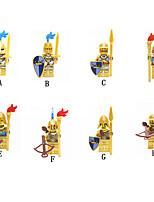 Недорогие -Конструкторы 8 pcs Воин Замок совместимый Legoing Простой броня Взаимодействие родителей и детей Все Игрушки Подарок