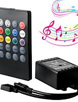 Недорогие -Новый 20 клавиш музыки ИК-контроллер черный датчик звука пульта дистанционного управления для RGB светодиодные полосы высокого качества