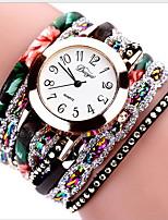 Недорогие -Жен. Часы-браслет Кварцевый Нет обожаемый Cool Аналоговый Роскошь Элегантный стиль - Черный Зеленый Светло-синий
