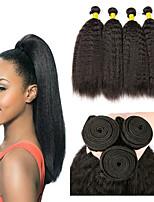 Недорогие -6 Связок Перуанские волосы Яки Необработанные натуральные волосы 100% Remy Hair Weave Bundles Человека ткет Волосы Пучок волос Накладки из натуральных волос 8-28 дюймовый Естественный цвет