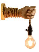 Недорогие -Новый дизайн Винтаж Настенные светильники Гостиная / кафе пеньковый канат настенный светильник 110-120Вольт / 220-240Вольт 40 W