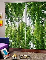 Недорогие -Горячие свежие стиль, высококачественные тканевые шторы спальня / офис утолщенные полные шторы для водонепроницаемых влагостойких занавесок для душа
