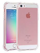 Недорогие -Кейс для Назначение Apple iPhone SE / 5s / iPhone 5 Ультратонкий / Прозрачный Кейс на заднюю панель Прозрачный Мягкий ТПУ