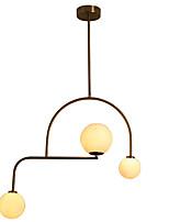 Недорогие -3-Light Круглый Люстры и лампы Электропокрытие Металл 110-120Вольт / 220-240Вольт Теплый белый