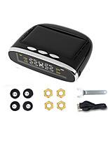 Недорогие -автомобильный монитор давления в шинах круглый беспроводной мониторинг давления в шинах сигнализация жк-дисплей цветной дисплей два метода установки