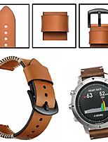 Недорогие -Ремешок для часов для Fenix Chronos Garmin Спортивный ремешок / Классическая застежка Натуральная кожа Повязка на запястье