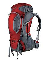 """Недорогие -MOBI GARDEN 63 L Заплечный рюкзак Быстровысыхающий Пригодно для носки На открытом воздухе Пешеходный туризм Ткань """"Оксфорд"""" Нейлон Вино"""