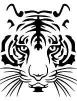 Недорогие -мощная голова тигра автомобильный мотоцикл виниловая наклейка