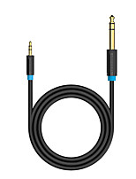 Недорогие -♦ 3.5 3.5 3.5 adapter adapter adapter адаптер 3,5 мм до 6,35 мм для усилителя микшера Гитара в двух направлениях Гнездо от 6,5 до 3,5 Гнездовой штекер Аудиокабель 0,5 м
