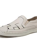 Недорогие -Муж. Комфортная обувь Полиуретан Весна лето На каждый день Мокасины и Свитер Дышащий Черный / Бежевый