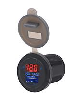 Недорогие -12/24 В автомобиль мотоцикл лодка универсальный мобильный телефон зарядное устройство вольтметр 2 в 1 зарядное устройство USB
