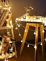 Недорогие -10 м 80led вишневые шары фея строка декоративные огни на батарейках свадьба рождество открытый патио украшения гирлянды