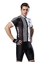 Недорогие -XINTOWN Муж. С короткими рукавами Велокофты и велошорты Черный / Белый Черный / желтый Велоспорт Дышащий Виды спорта Эластан Однотонный Горные велосипеды Шоссейные велосипеды Одежда / Эластичная