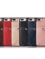 Недорогие -Кейс для Назначение Apple iPhone XS / iPhone XR / iPhone XS Max Кошелек / Бумажник для карт Кейс на заднюю панель Однотонный Мягкий Кожа PU / ТПУ