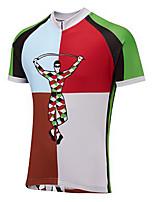 Недорогие -21Grams Новинки Муж. С короткими рукавами Велокофты - Зеленый Велоспорт Джерси Верхняя часть Дышащий Влагоотводящие Быстровысыхающий Виды спорта Терилен Горные велосипеды Шоссейные велосипеды Одежда