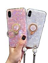 Недорогие -Кейс для Назначение Apple iPhone XS / iPhone XR / iPhone XS Max со стендом Кейс на заднюю панель Сияние и блеск Мягкий Силикон