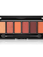 Недорогие -6 цветов Тени Тени для век Pro / Прост в применении Офис Повседневный макияж косметический