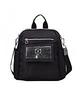 Недорогие -Большая вместимость Нетканые Молнии рюкзак Сплошной цвет Повседневные Черный / Наступила зима