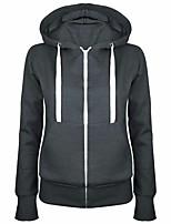 cheap -Women's Fleece Hoodie Sweatshirt Long Sleeve Minimalist Sport Athleisure Hoodie Breathable Warm Soft Comfortable Everyday Use Exercising General Use