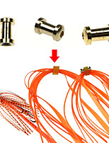 Недорогие -Медные детали скольжения рыбалка рыболовное снаряжение люциан юбки и резиновый галстук мула расходные материалы