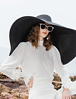 cheap -Natural Fiber Straw Hats with Solid 1pc Casual / Daily Wear Headpiece