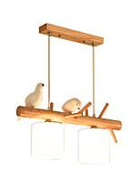 Недорогие -Модные деревянные подвесные светильники nordic creative люстры из цельного дерева 3 светильника регулируемые подвесные светильники для кухни островной обеденный стол