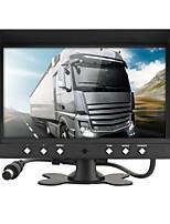 Недорогие -dc 12v / 24v 9-дюймовый автомобильный парковочный монитор с 4-канальным 4-контактным монитором видеовхода hd автомобильный четырехъядерный сплит-монитор для камеры фургонов