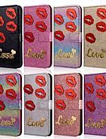 cheap -Case For Samsung Galaxy A51 / M40S / A71 Wallet / Shockproof Lips Diamond Glitter PU Leather Case For Samsung S20 Plus / S20 Ultra/A20e/A50s/A30s/A10/A60/A70/A80/S10 Lite/S10 5G/S10 Plus/Note 10 Plus