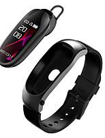 Недорогие -Kr04 умный браслет bluetooth-гарнитура ответить на звонок пассометр сердечный ритм фитнес-браслет умный браслет наушники для android ios часы