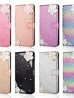 cheap -Case For Samsung Galaxy A51 /M40S / A71 Wallet / Shockproof Flower Diamond Glitter PU Leather Case For Samsung S20 Plus / S20 Ultra/A20e/A50s/A30s/A10/A60/A70/A80/S10 Lite/S10 5G/S10 Plus/Note 10 Plus