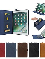 cheap -Case For Apple iPad Air / iPad (2018) / iPad Pro 11'' Wallet / Card Holder / with Stand Full Body Cases Solid Colored PU Leather
