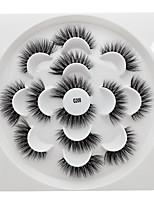 Недорогие -Ресницы 7 pcs Прост в применении удобный Ультралегкий (UL) Компактность На каждый день Безопасность Ресницы из шерсти животных На каждый день Ленточные накладные ресницы - Составить
