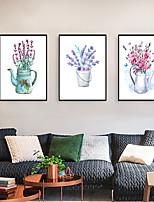 Недорогие -Отпечаток в раме Набор в раме - Пейзаж Цветочные мотивы / ботанический Полистирен Фотографии Предметы искусства