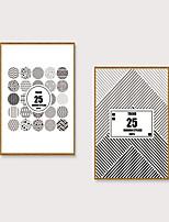 Недорогие -Отпечаток в раме Набор в раме - Абстракция Полистирен Иллюстрации Предметы искусства