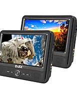 Недорогие -d-jix pvc906-70 9-дюймовый портативный двойной монитор dvd sd / usb поддержка универсальной поддержки microusb avi mp3 jpeg