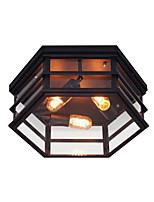 Недорогие -потолочный светильник скрытого монтажа антикварный 3 светильника люстры светильники рустикальное стекло потолочное освещение фойе прихожей балкон окружающего света окрашенная отделка металл