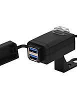 Недорогие -зарядное устройство мобильного телефона мотоцикла qc3.0 быстрая зарядка двойной usb с выключателем 12-24 В универсальный