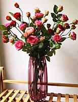 Недорогие -Искусственные Цветы 1 Филиал Классический европейский Простой стиль Камелия Букеты на пол
