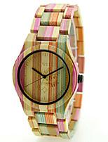 Недорогие -Нарядные часы Дерево Аналоговый Мужской цвет 3 Мужской цвет 4 Женский цвет 3