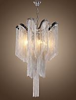Недорогие -Роскошная люстра с 4 лампами / подвесные светильники из алюминиевого потока / серебряное гальваническое покрытие для гостиной комнаты ресторан / led5w g9 теплый белый свет в комплекте