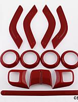 Недорогие -12шт / комплект интерьера отделка салона рулевого колеса&усилитель; Отделка выпуска воздуха центральной консоли для джипа Wrangler JK JKU