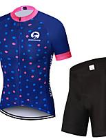Недорогие -MAKOSHARK Горошек Жен. С короткими рукавами Велокофты и велошорты - Синий Велоспорт Наборы одежды Дышащий Влагоотводящие Быстровысыхающий Виды спорта Polyster Лайкра / Продвинутый уровень