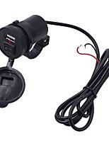 Недорогие -мотоцикл зарядное устройство мобильного телефона 12 В водонепроницаемый один USB с переключателем зарядного устройства