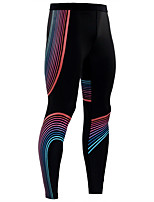 Недорогие -Муж. Штаны для йоги Сплошной цвет Лайкра Бег Фитнес Тренировка в тренажерном зале Велоспорт Колготки Спортивная одежда Дышащий Влагоотводящие Быстровысыхающий Подтяжка Эластичность