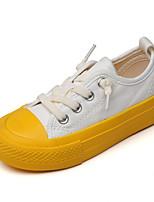 Недорогие -Девочки Полотно Кеды Маленькие дети (4-7 лет) Удобная обувь Белый / Лиловый / Желтый Лето