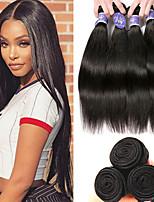 Недорогие -3 Связки Перуанские волосы Прямой человеческие волосы Remy Необработанные натуральные волосы Человека ткет Волосы Удлинитель Пучок волос 8-28 дюймовый Нейтральный Ткет человеческих волос / Glueless