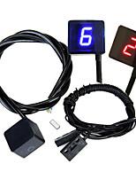 Недорогие -светодиодный универсальный цифровой индикатор передач дисплей мотоцикла рычаг переключения передач датчик спидометра индикатор передачи